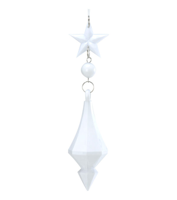 Jewel drop - star bead drop 16 x 4.5cm