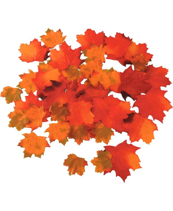 Maple Leaves Multi 6.5cm - Packs of 192 Leaves - Multicolour
