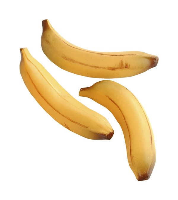 Bananas - 18cm Long - Pack of 3 - Yellow