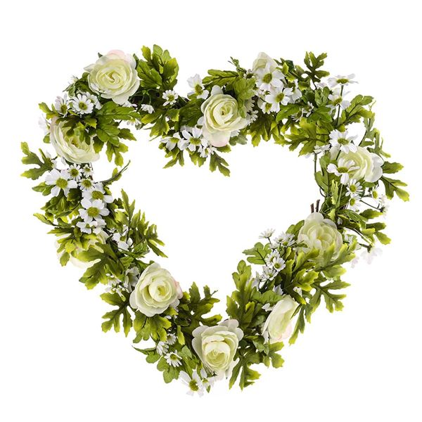 Rose and Daisy Heart - 40cm By 40cm - Pack of 1