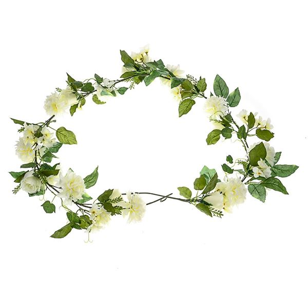 Flower Garland - Cream - 180cm - Pack of 1