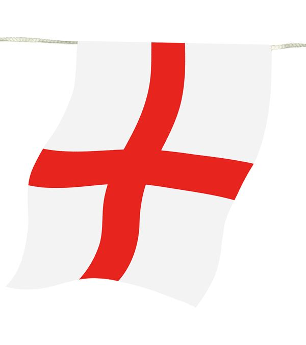 England Flag Outdoor Bunting - 4m Long - Red and White