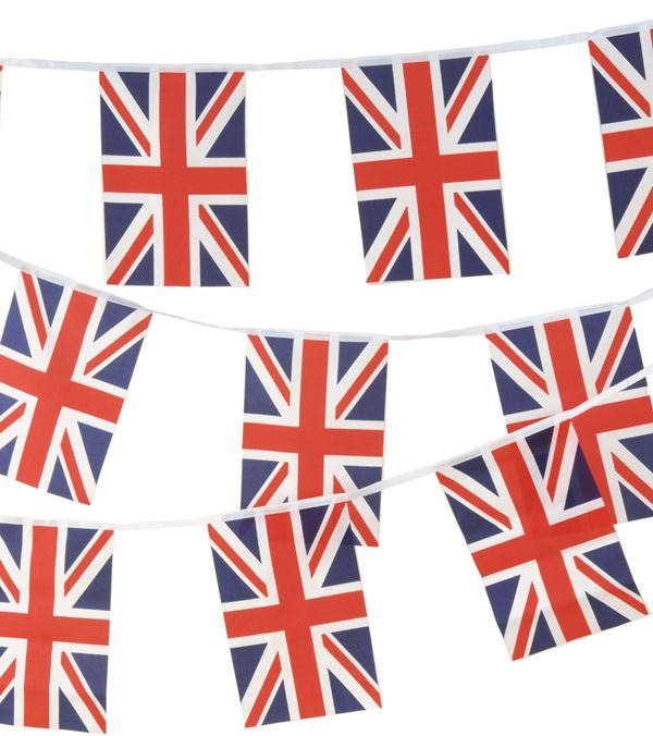 Union Jack Bunting - 6m - Red White and Blue - Sold Individually