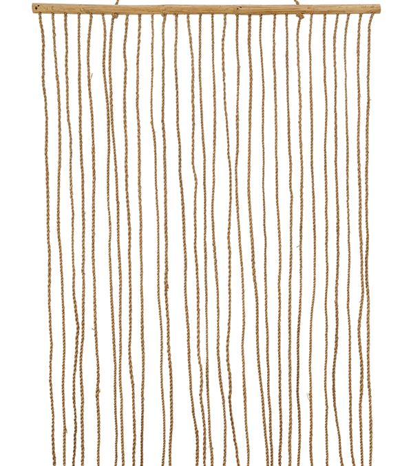 Rope Curtain - 300cm Long X 100cm Wide - Natural