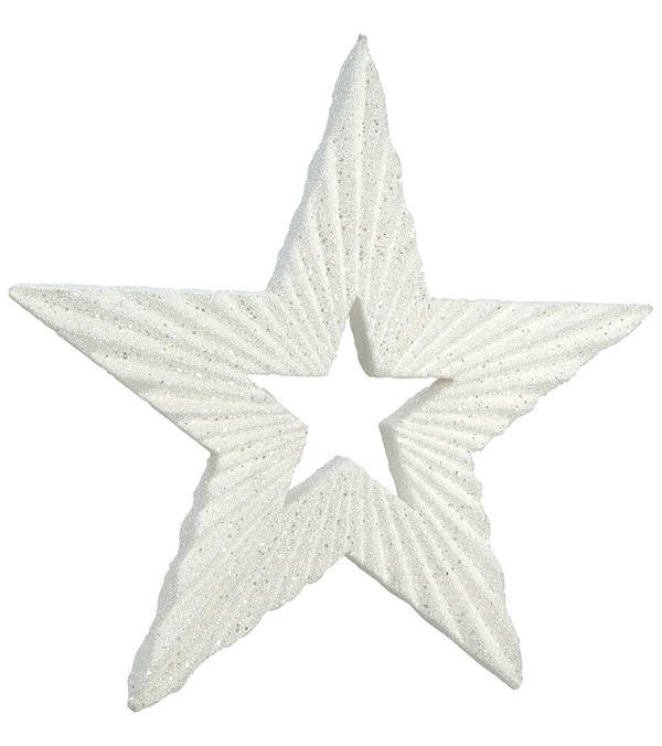 Textured Glitter Star White 60cm x 4cm - 60cm x 4cm - White - Sold Individually