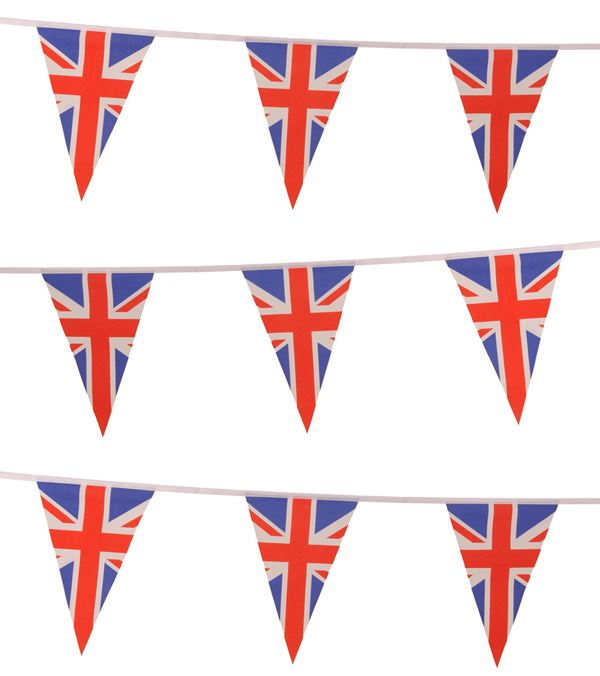 Union Jack Triangle Bunting - 20m - Multicolour - Sold Individually