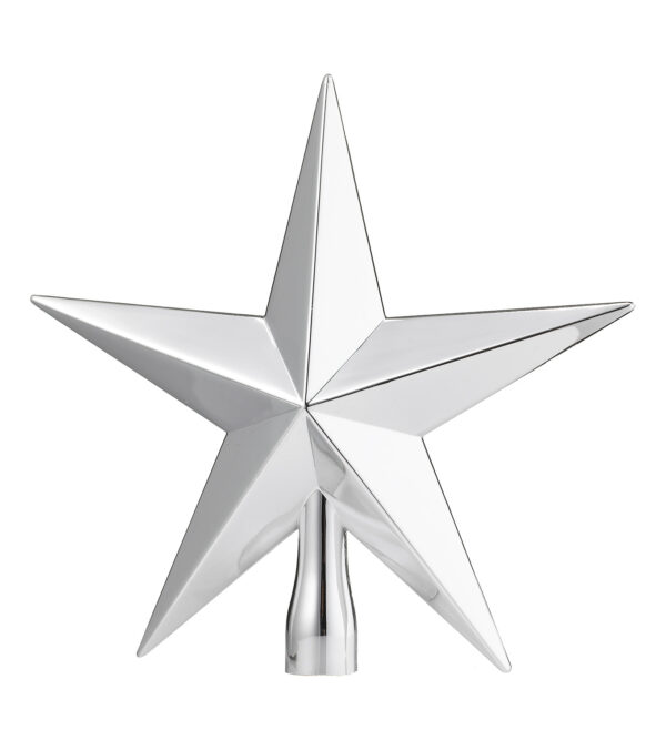 Tree Topper Classic Shiny Silver 20cm