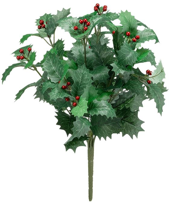 Holly Bunch - 38cm Tall - Green - Sold Individually