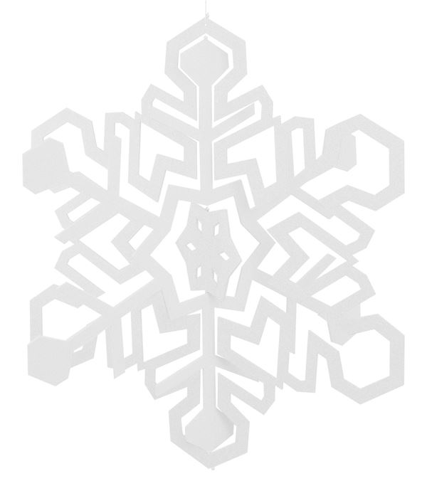 Giant Cut Out Snowflake - 88cm - White - Sold Individually