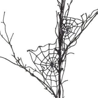 Spider Web Twig Black 120cm - 120cm Long - Black - Pack of 3