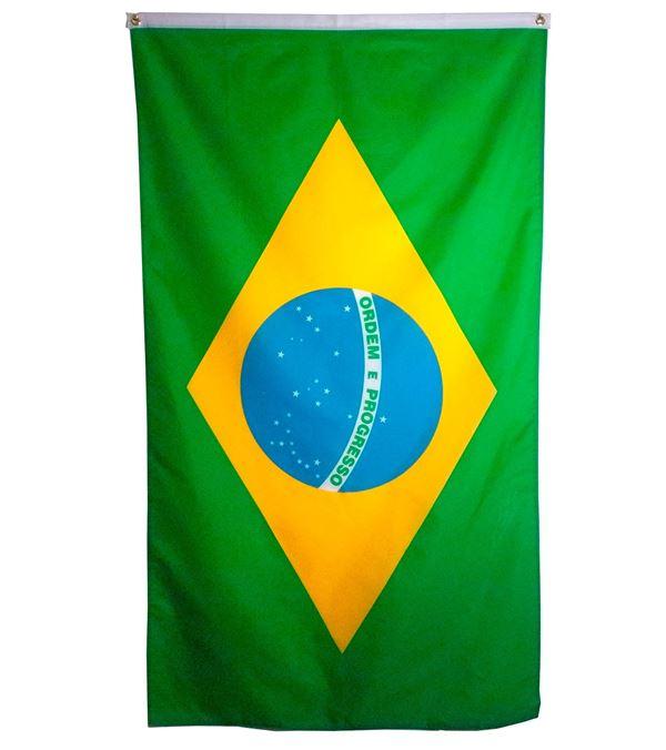 Brazil Flag Multi 1.5m X 90cm - 1.5m X 90cm - Multicolour - Sold Individually