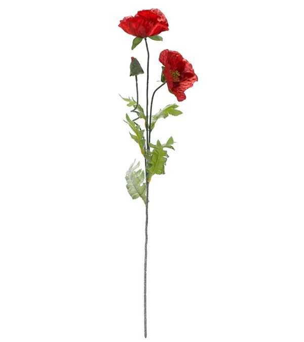 Poppies - 67cm Tall - Red - Pack of 3