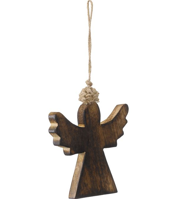 Wooden Angel - 9cm High x 9cm Wide - Pack of 3 - Natural (16084)