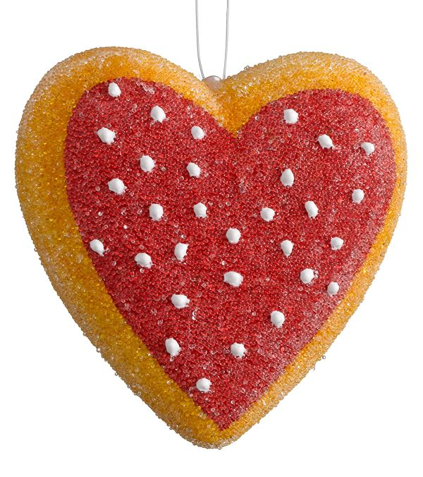Heart Cookies - 65mm - Red (16179) - Pack of 3