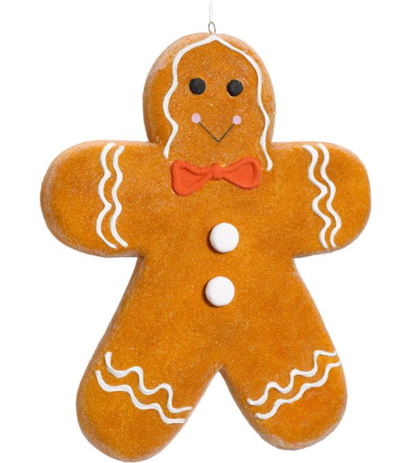 Gingerbread Man - Large - 40cm Tall - Brown