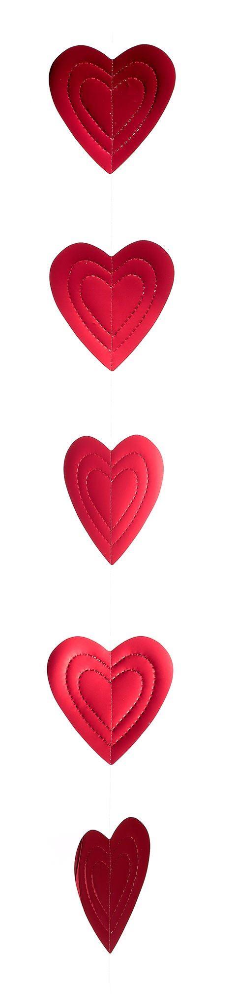 Foil Heart Garland - Pack of 3