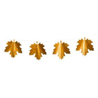 Maple Leaf Foil Bunting - 200cm - Copper - Pack of 3