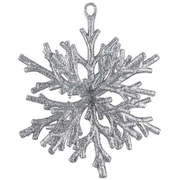Glittered Coral Snowflake
