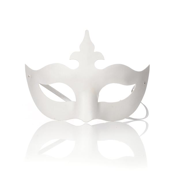 Tiara Blank Mask - 13cm Tall - White - Sold Individually
