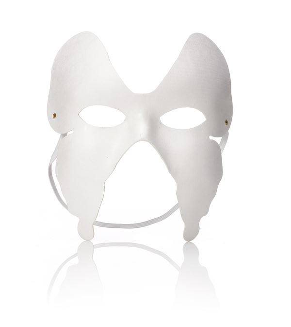 Butterfly Blank Mask - 18cm Tall - White - Sold Individually