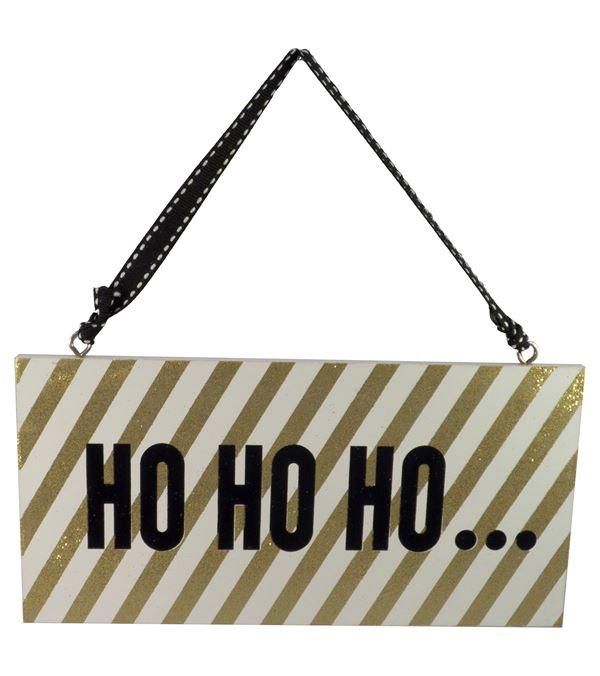 Ho Ho Ho Hanging Sign (16170)