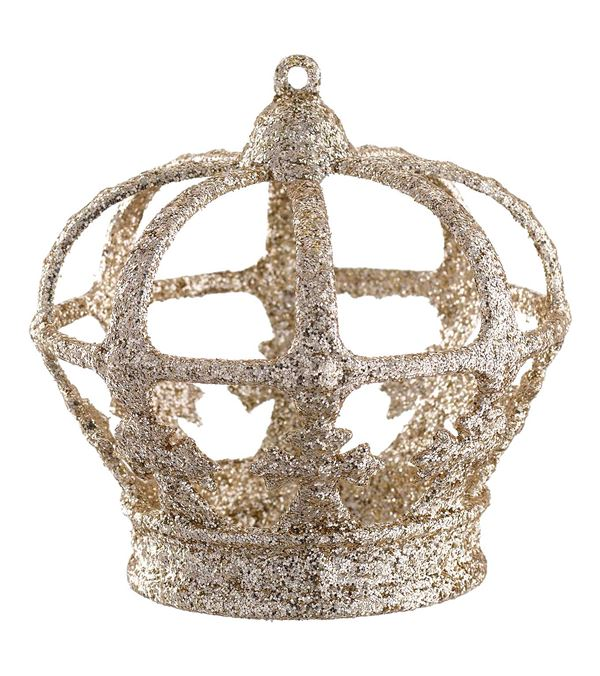 Champagne Glittered Crown - 9cm - Gold (16239) - Pack of 6