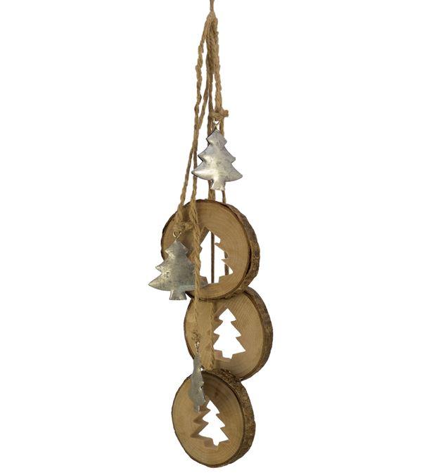 Wood Tree Hanger - 34cm Long - Per 2 - Natural (16326)