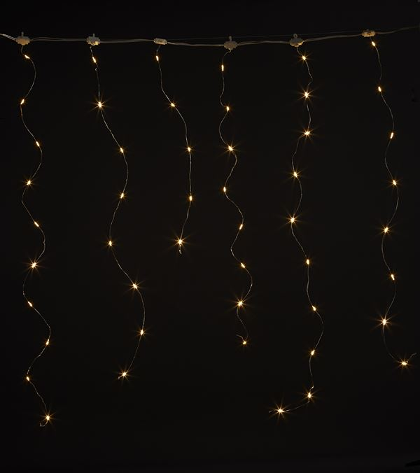 Silver Wire Icicle Lights