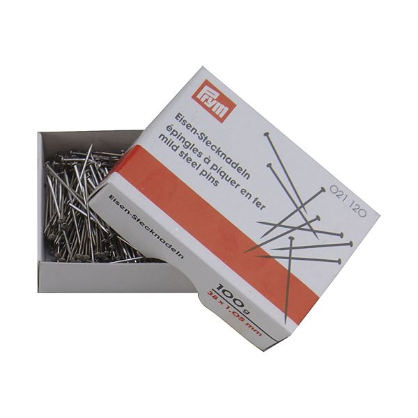 36mm Silver Pins - 36mm - Silver - Pack of 100g