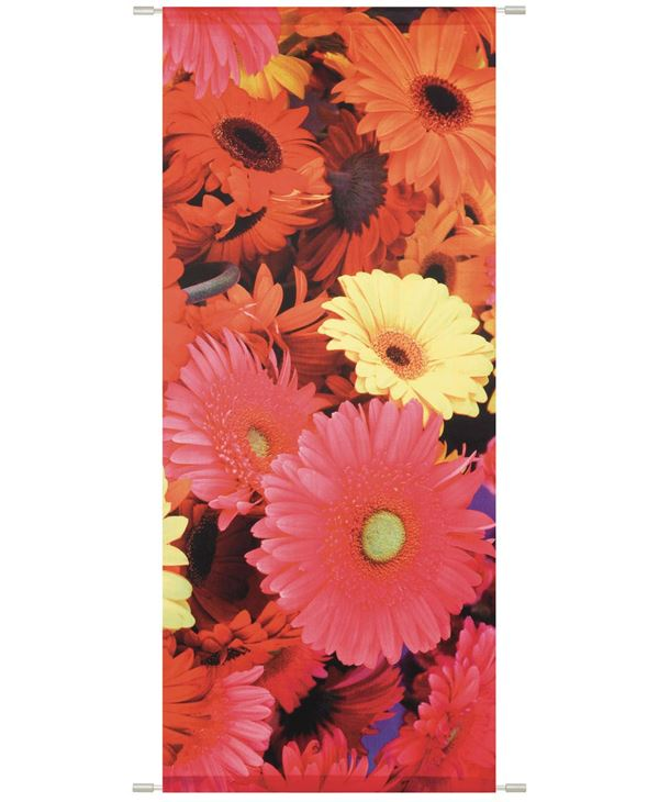 Noa Banner - 180cm Long X 75cm Wide - Orange - Sold Individually