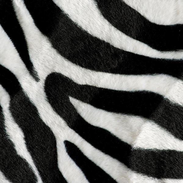 Zebra Textured Velvet Black and White 150cm - 150cm Wide - Black and White - Per Linear Metre