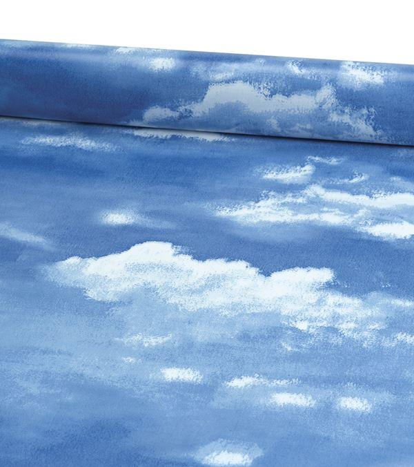 Adria Pvc Blue White 135cm - 135cm Wide - Blue - Per Linear Metre