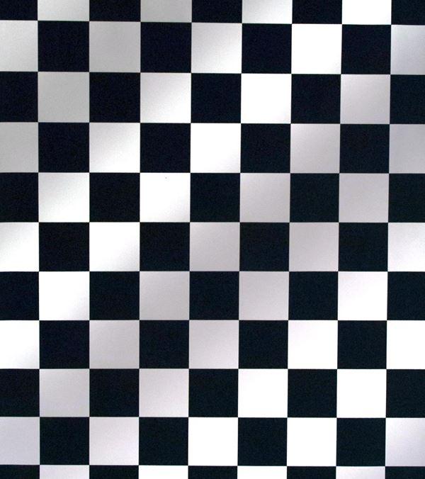 Chess Pvc - 135cm Wide - Black and White - Per Linear Metre