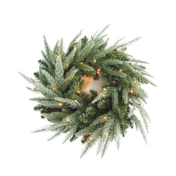 Wreath 60cm Pre Lit Double Sided