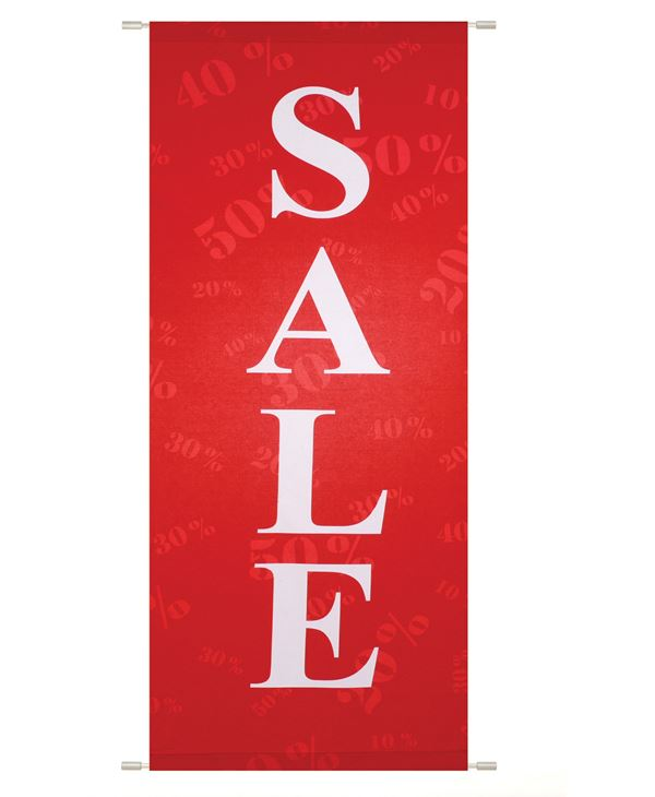 Sale Banner - 200cm Long X 75cm Wide - Red