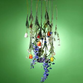Chandelier With Hanging Clips Silver 50cm - 50cm Diameter - Silver - Sold Individually