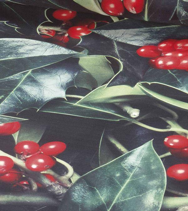 Holly Photoprint Fabric - 150cm - Green - Per Linear Metre