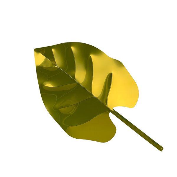 Gold Display Monstera Leaf - 40cm - Pack of 1