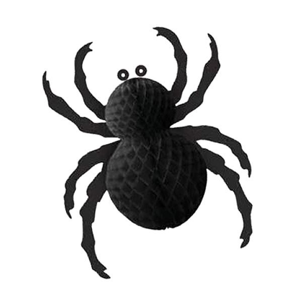 Black Paper Fold Out Spider - 26cm - Pack of 1