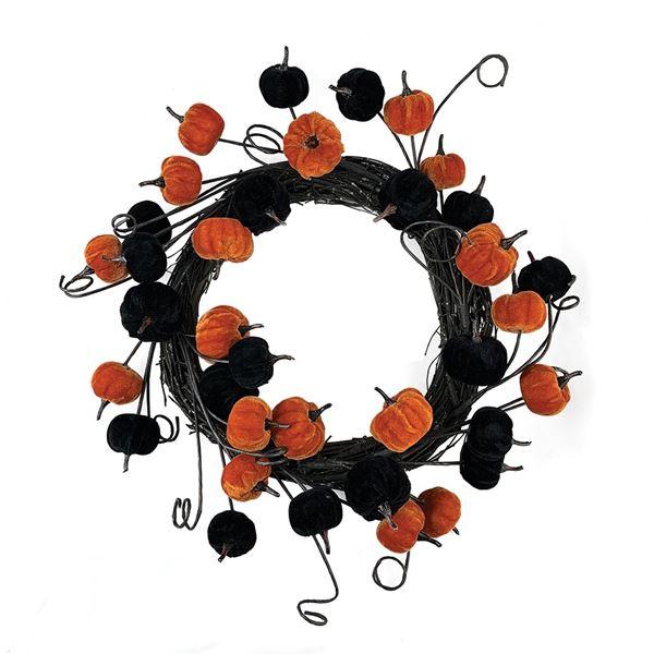 Black and Orange Pumpkin Wreath