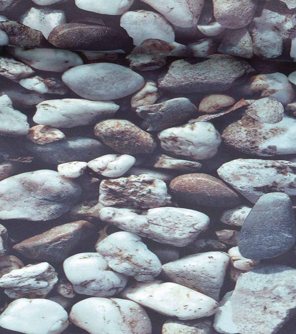 Rocks Photoprint Fabric - 150cm Wide - Grey - Per Linear Metre