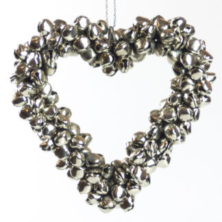 Metal Heart Bell Christmas Wreath