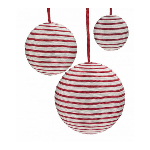 striped ribbon baubles