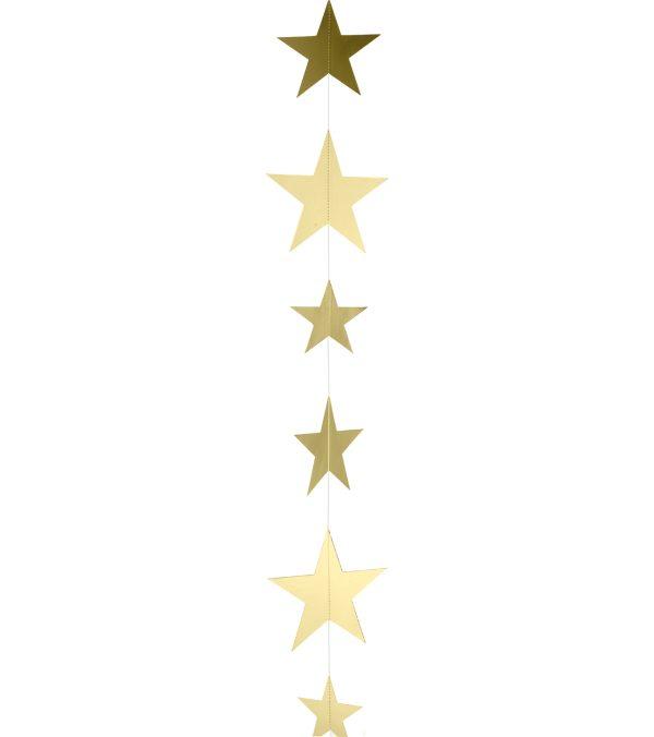 Metallic Card Star Garlands