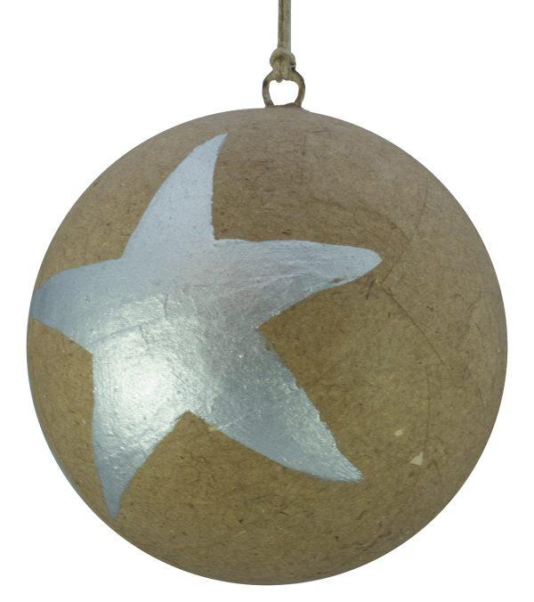 Kraft Baubles - Large Star