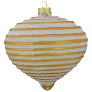 Ribbed Glass Onion Baubles