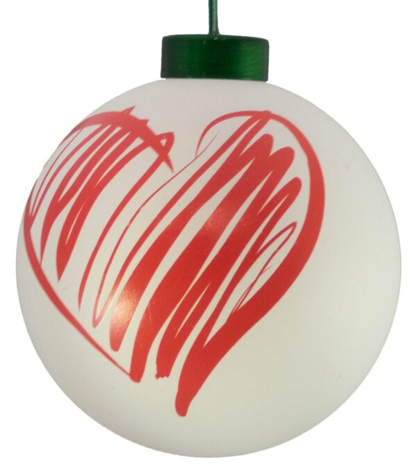 Contemporary Icon Baubles - 80mm - Heart