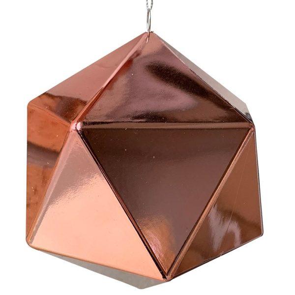 Pink Geometric Shiny Bauble