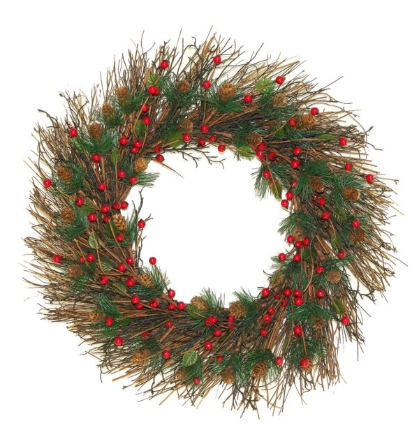"""Twig and Berry Wreath 22"""" (0.56m)"""