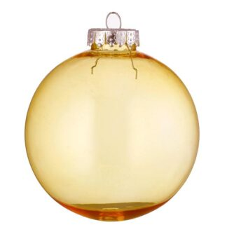 amber tinted glass bauble